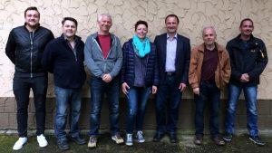 v.l.n.r.: Christian Färber, Volker Peter, Karl-Heinz Seegmüller, Katja Klos, Karsten Ritter, Dr. Hans Matheis, Carsten Becker